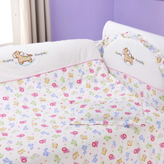 婴之贝全棉婴儿床品套件 纯棉婴儿床围13件套 宝宝床上用品多花色