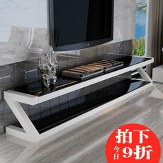 钢化玻璃电视柜茶几组合客厅欧式烤漆简约现代大小户型卧室电视柜
