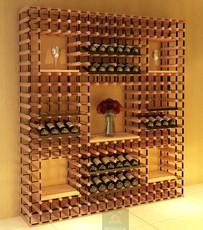 波多酒窖定做酒架家庭客厅仓库酒店储藏创意墙体定制红酒展示架