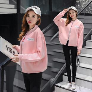 棒球服女秋冬新款加厚加绒学生装宽松长袖外套韩版夹克保暖上衣服