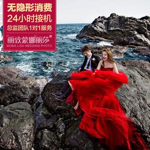 丽致蒙娜丽莎厦门婚纱摄影 海景骑士水下游艇旅行个性婚纱照团购婚纱摄影