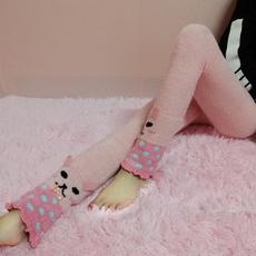 日系软绵绵毛绒绒珊瑚绒羽毛纱女睡裤长裤加厚保暖家居裤睡眠裤子