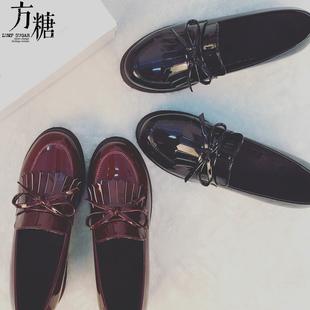 松糕鞋女秋冬2016厚底粗跟韩版女单鞋学院风日系小皮鞋英伦风女鞋
