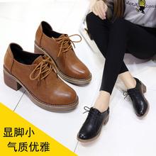 马丁靴女短靴2018新款春季女鞋高跟靴子百搭韩版学生粗跟小皮鞋潮