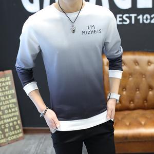 春装长袖T恤男青少年韩版修身圆领卫衣打底衫体恤学生衣服潮男装T恤