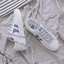 子原宿ulzzang韩版 女2018春季新款 学生布鞋 环球百搭小白鞋 帆布鞋