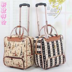 特价韩版可爱PU女拉杆包拉杆箱行旅包手提旅行包行李包旅行箱软包