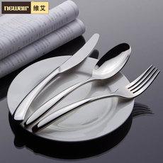 维艾公爵不锈钢西餐餐具欧式刀叉勺套装创意西式牛排刀叉 三件套