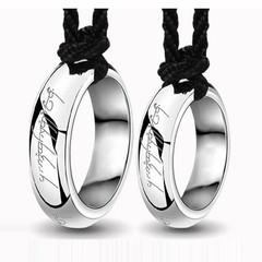 创意情侣魔戒指吊坠项链韩版一对 男士项链女钛钢霸气个性配饰品