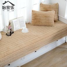 怡家乐加厚长毛绒飘窗垫 窗台垫子定做防滑阳台坐垫海绵榻榻米垫