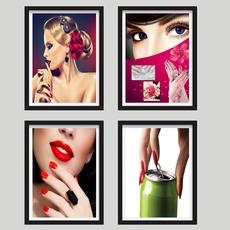 美女装饰画美容美甲SPA馆墙画化妆品店壁画彩妆挂画现代时尚框画
