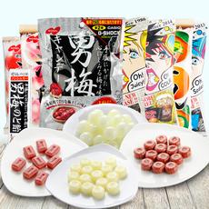 日本进口零食NOBEL诺贝尔柠檬糖88g男梅糖苏打三层夹心尖叫糖果