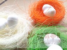拉菲草之家 麻丝制作的仿真鸟窝 用作喜糖盒及其它圣诞礼品装饰