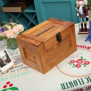 高端大气ZAKKA收纳盒装饰盒复古风实木带锁盒子木质珠宝首饰箱子木质收纳盒