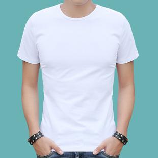 男士短袖t恤纯棉夏天圆领土纯色夏季薄款丅衣服血桖半截袖打底衫