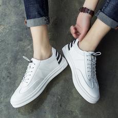 男鞋春季潮鞋2017新款韩版百搭低帮板鞋内增高休闲白鞋男士小白鞋