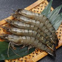 青明虾 8规格火锅食材 鲜之隆 越南黑虎虾草虾 老虎虾
