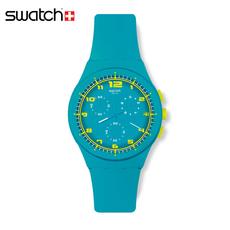 专柜正品斯沃琪 Swatch 手表情侣果冻石英表 湛蓝水滴 SUSL400