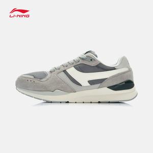 李宁男鞋运动鞋男子休闲鞋复古经典时尚运动生活鞋ALKJ001运动鞋