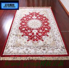 地毯 客厅茶几土耳其波斯风格棉丝混纺地毯欧式家居大地毯包邮