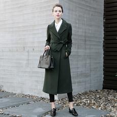 天天特价欧美羊毛呢大衣中长款过膝长款西装修身显瘦外套女装2895