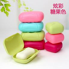 塑料带锁扣旅行肥皂盒 迷你便携香皂盒大号创意带盖密封皂盒 包邮