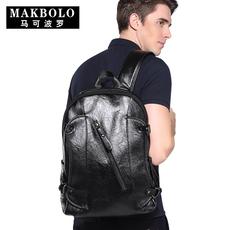 马可波罗男士背包韩版休闲电脑包大学生书包男时尚潮男包双肩包男