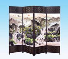 直销 便捷住宅家具实惠工艺装 新品 折屏隔断花窗摆件可移动屏风