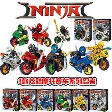 乐高幻影忍者人仔摩托车赛车忍者小人偶益智拼装玩具积木摆件