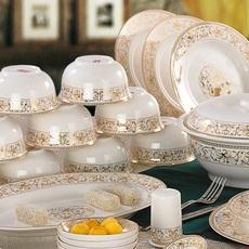太阳岛】景德镇陶瓷骨瓷碗盘碗筷碗碟餐具套装家用中式欧式