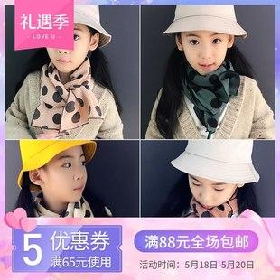 韩版儿童棉麻围巾薄款时尚宝宝围脖秋冬款男童女童保暖长围巾学生