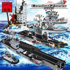 兼容乐高积木军事航母军舰男孩玩具拼插战舰模型儿童积木6-8-12岁