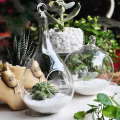MX时尚简约透明玻璃吊瓶 可悬挂墙壁挂吊球花瓶创意居家装饰品2款