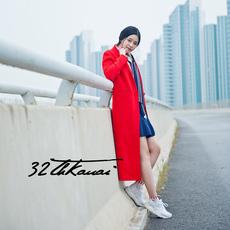 现货16秋冬新品杨幂同款正品显瘦直筒红色毛呢大衣中长款女外套