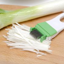 日本进口切葱花神器厨房多功能葱丝刀切丝小工具创意切菜器切蒜器