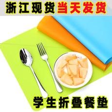 宜家宝宝硅胶餐垫儿童加厚小学生餐垫防水餐桌隔热锅垫可折叠水洗