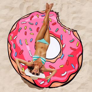 PRIDONNA超大甜甜圈沙滩巾旅行超轻速干浴巾运动吸水巾游泳大毛巾