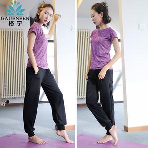 格宁瑜伽运动服套装女夏季健身房短袖跑步速干衣宽松健身服瑜伽服瑜伽服