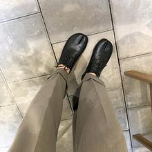 忍者分趾鞋 自留ins2019韩货chic设计系复古系带低帮平底小软皮鞋