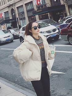 可爱胖妹妹短棉袄中学生棉服女超薄超轻 短款高腰修身款休闲款女