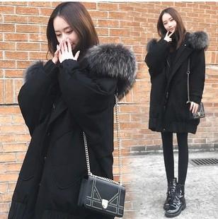 胖mm冬装新款特大码女装200斤加厚棉衣外套胖妹妹中长款显瘦棉服