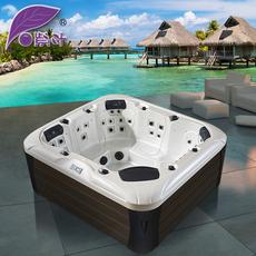 紫叶 SPA按摩冲浪大池浴缸 户外游泳池多功能SPA机