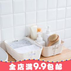 收纳篮子塑料桌面大号厨房浴室家用创意内衣内裤袜子杂物收纳盒