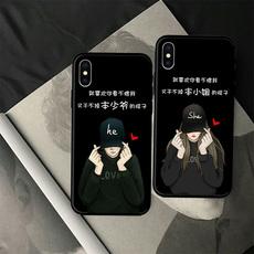 有趣文字情侣款 iPhonex苹果8p手机壳6s/7plus软套8磨砂5se