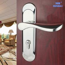 不锈钢门锁室内 卧室内门锁 简约大小50卧室门锁木门锁 锁室内门