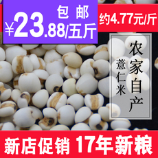 东北农家自产薏仁米5斤新货五谷杂粮薏苡仁米2500g满包邮薏苡仁