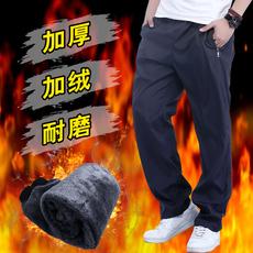 运动裤男长裤秋冬季男士休闲裤大码加绒厚速干耐磨涤纶裤防风雨裤