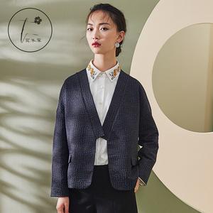 原创设计师品牌女装短外套 2017新款百搭上衣秋季 中式外套女短款
