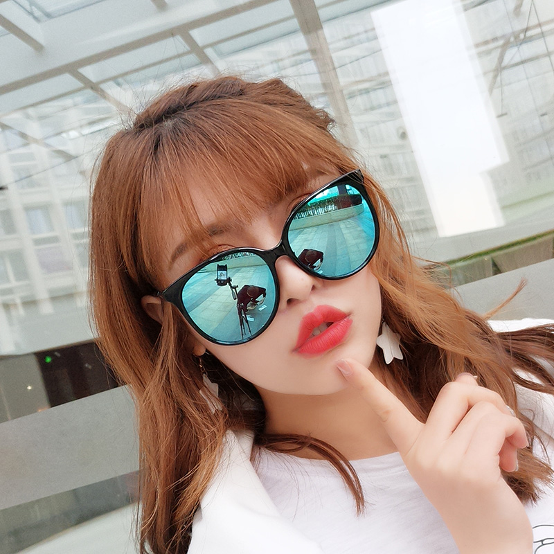 The sun mirror female sunglasses 2018 new style of round face personalities of Han Ban Chao revive old customs original night breeze to keep ultraviolet ray street from clapping glasses - intl