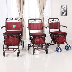 新款爱鑫老年购物车可手推轮椅车折叠老人代步助行买菜休闲车包邮